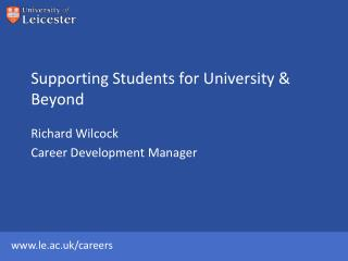 Supporting Students for University & Beyond