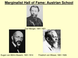 Marginalist Hall of Fame: Austrian School