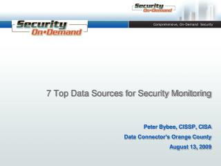 7 Top Data Sources for Security Monitoring