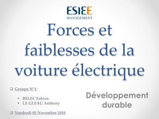 Forces et faiblesses de la voiture électrique