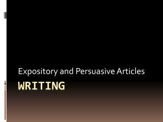 Expository essay vs persuasive essay