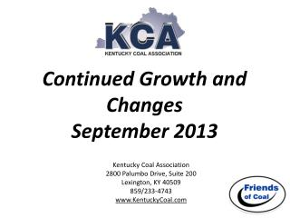 Continued Growth and Changes September 2013
