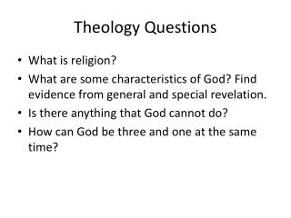 Theology Questions