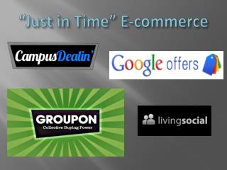 �Just in Time� E-commerce