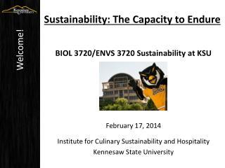 Sustainability: The Capacity to Endure