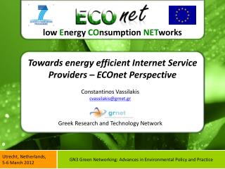 Towards energy efficient Internet Service Providers – ECOnet Perspective