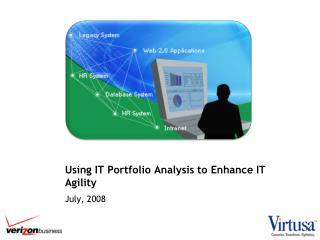 using it portfolio analysis to enhance it agility