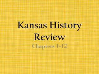 Kansas History Review