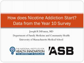 How does Nicotine Addiction Start? Data from the Year 10 Survey
