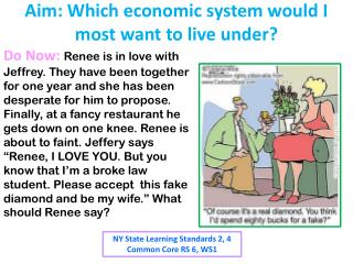 Aim: Which economic system would I most want to live under?