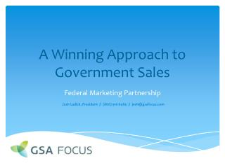 A Winning Approach to Government Sales