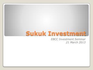 Sukuk Investment