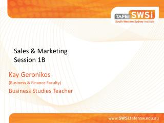 Sales & Marketing Session 1B