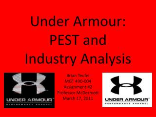 Under Armour: PEST and  Industry Analysis