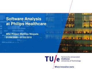Software Analysis  at Philips Healthcare