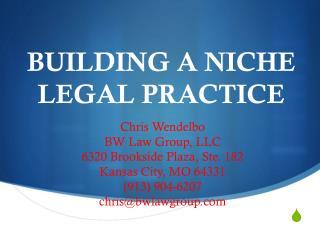 Building a Niche legal Practice