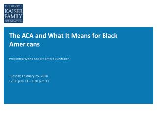 The ACA and What It Means for Black Americans