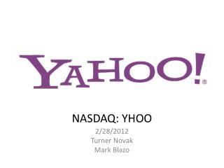 NASDAQ: YHOO