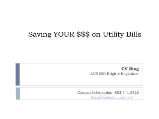 Saving  YOUR $$$ on Utility Bills