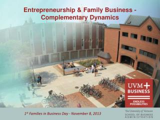 Entrepreneurship & Family Business - Complementary  Dynamics