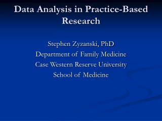 data analysis in practice-based research