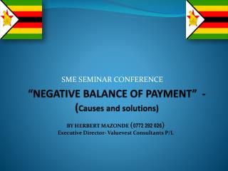 �NEGATIVE BALANCE OF PAYMENT�  - ( Causes and solutions)