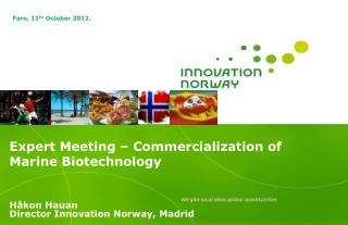 Expert Meeting – Commercialization of Marine Biotechnology