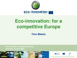 eco-innovation: for a competitive europe