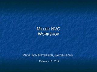 Miller NVC Workshop