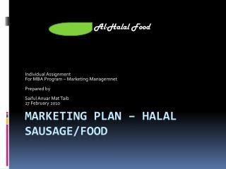 Marketing Plan –  halal sausage/Food