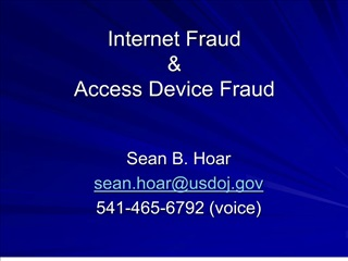 internet fraud   access device fraud