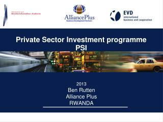 Private Sec tor  Investment programme PSI