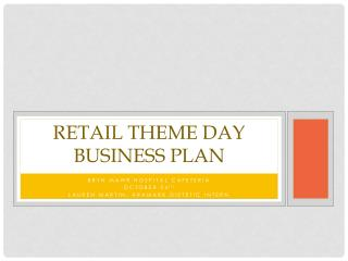 Retail theme day business plan