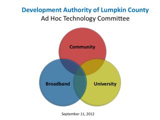Development Authority of Lumpkin County Ad Hoc Technology Committee