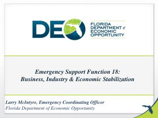 Emergency Support Function 18: Business, Industry & Economic Stabilization
