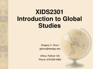 XIDS2301 Introduction to Global Studies
