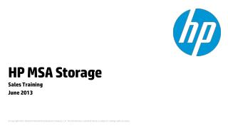 HP  MSA Storage