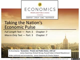 Taking the Nation's  Economic Pulse