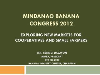 MINDANAO BANANA CONGRESS 2012