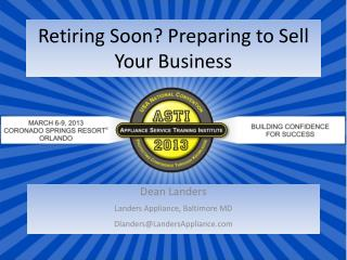 Retiring Soon? Preparing to Sell Your Business