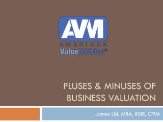 Pluses & Minuses of Business Valuation