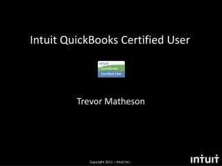 Intuit QuickBooks Certified User