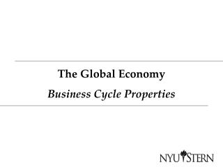 The Global Economy Business Cycle Properties