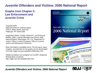 juvenile offenders and victims: 2006 national report  graphs from chapter 5:  law enforcement and juvenile crime