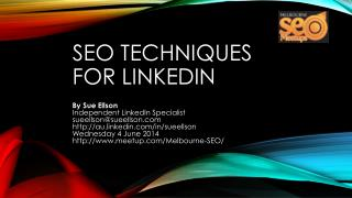 SEO Techniques  for  linkedIn