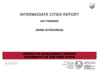 intermediate cities report Key findings  (Work in progress)