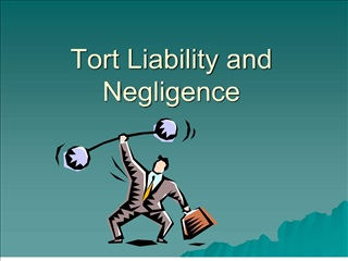 tort liability and negligence
