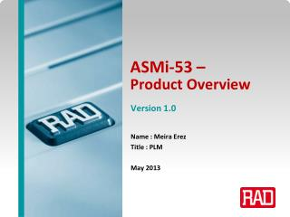 ASMi-53 –  Product Overview