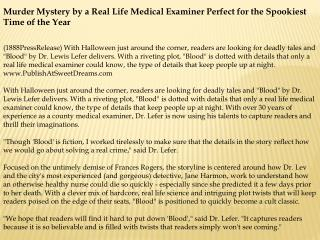 murder mystery by a real life medical examiner perfect for t