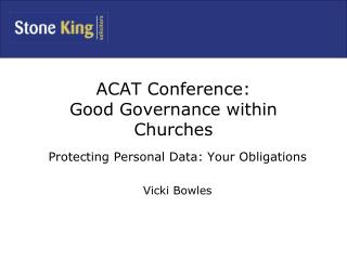 ACAT Conference: Good Governance within Churches